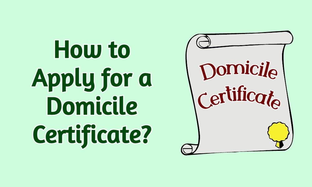 Domicile Certificate: How to Get a Domicile Certificate?