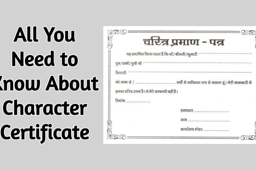 Character Certificate Uses, Format, Samples, Free Downloads